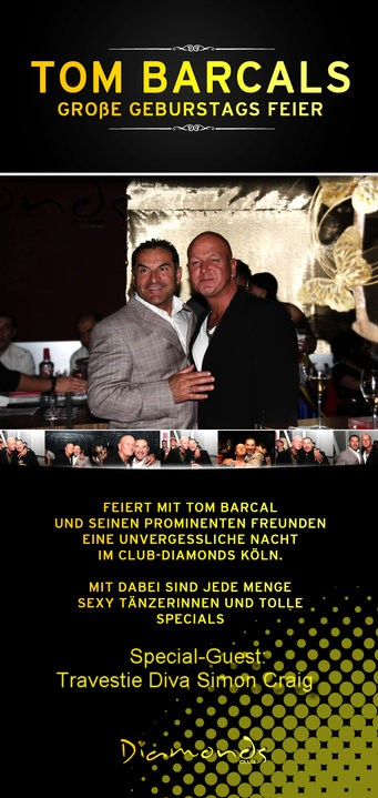 Tom Barcel Birthdayparty Club Diamond Köln